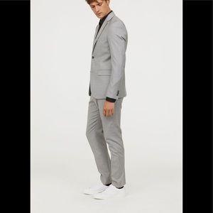H&M Slim Fit Suit - Light Grey